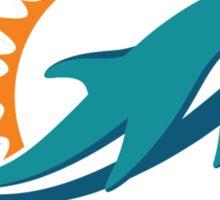 Miami Dolphins logo 1 Sticker