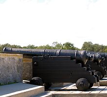 Cannons facing south, Castillo San Marcos by Ben Waggoner