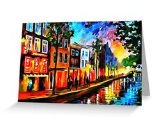Amsterdam - Red Lights Greeting Card