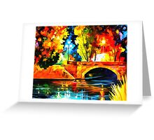 Bridge over the life Greeting Card