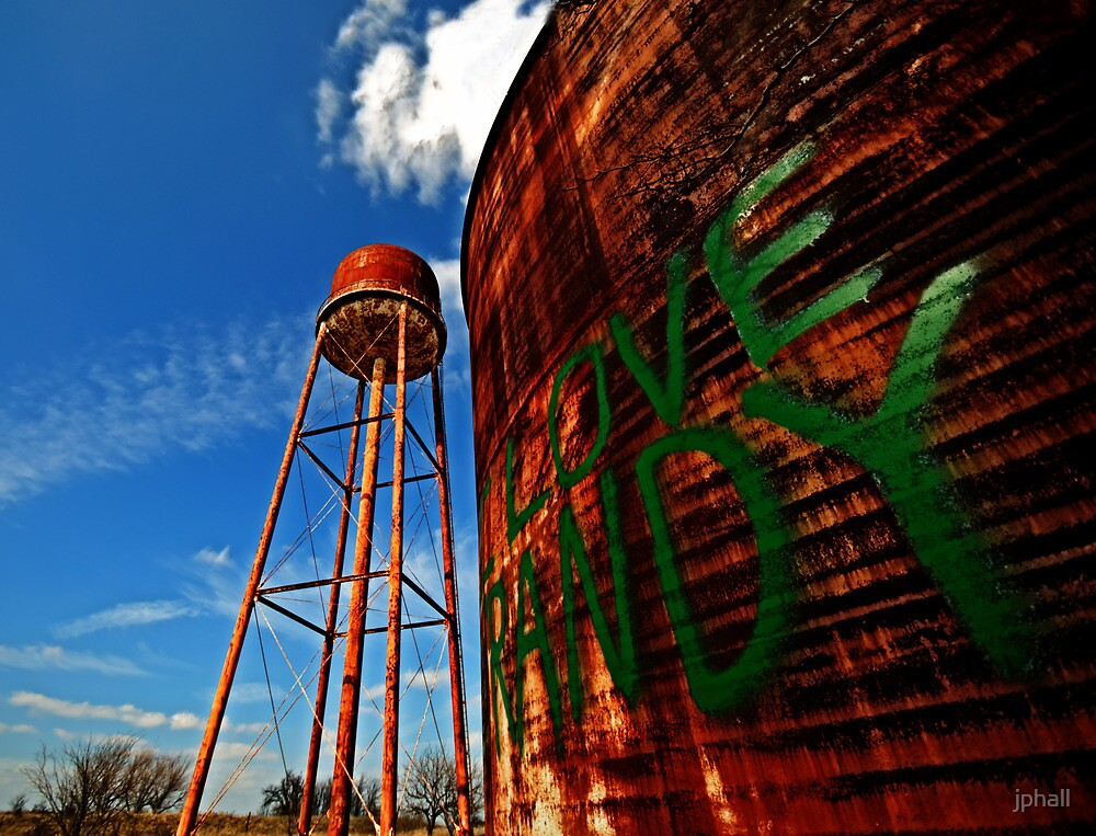Water Tower - Somewhere Near Justin, Texas by jphall