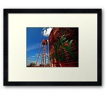 Water Tower - Somewhere Near Justin, Texas Framed Print