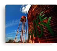 Water Tower - Somewhere Near Justin, Texas Canvas Print