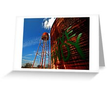 Water Tower - Somewhere Near Justin, Texas Greeting Card