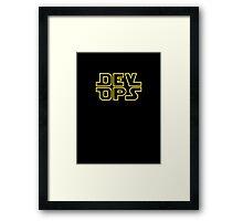 DevOps - Star Wars style Framed Print