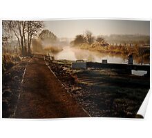 Mist over the canal Poster