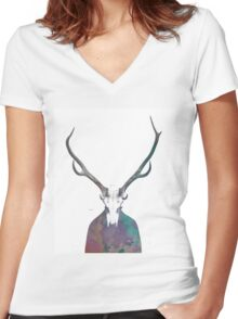 Shadows of the past Women's Fitted V-Neck T-Shirt