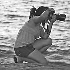 Shooting at the Beach by heatherfriedman