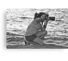 Shooting at the Beach Canvas Print