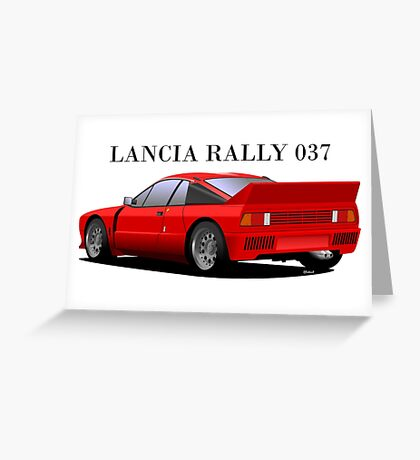 Lancia Rally 037 Stradale Greeting Card