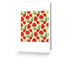 Bright waratah pattern Greeting Card
