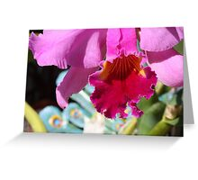 Cattleya Orchid - Detail Greeting Card
