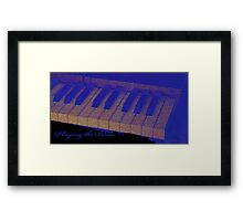 Playing the Blues - Piano keys abstract  Framed Print