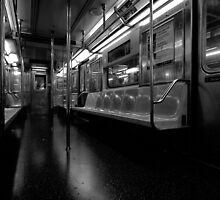 Subway Car Late Night by Stephen Burke