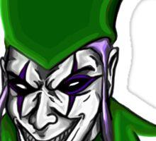 Evil Jester Clown Sticker