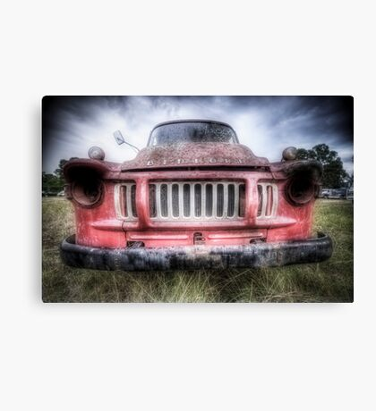 Red Bedford - HDR Canvas Print