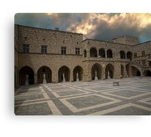 Grand Maters Palace Rhodes Greece Canvas Print
