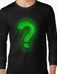 Question Mark Light Bulb Long Sleeve T-Shirt