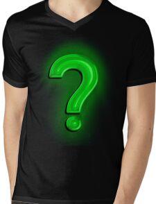 Question Mark Light Bulb Mens V-Neck T-Shirt