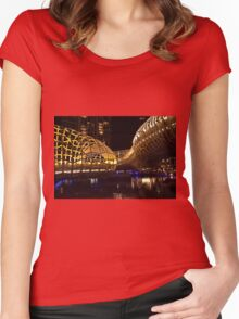 0954 Web Bridge by night Women's Fitted Scoop T-Shirt