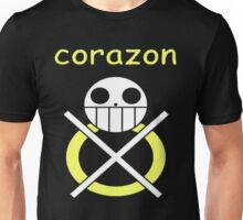 One Piece Corazon Trafalgar law Logo Anime Cosplay Japan T Shirt  Unisex T-Shirt