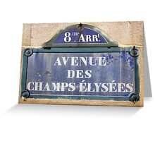 Champs Elysees street sign Greeting Card