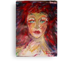 Girl with red hair, 2010 Canvas Print