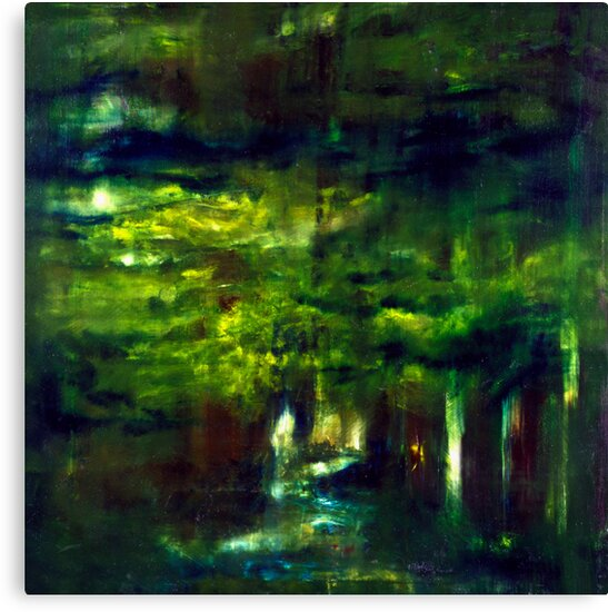 """""""Forest One"""" - abstract oil painting impression of trees    by James  Knowles"""