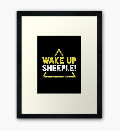 Wake Up Sheeple! Framed Print