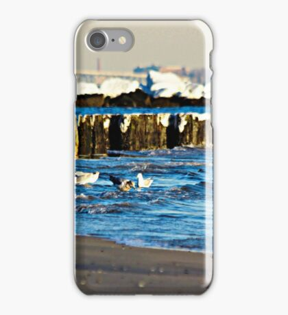 Snow On The Jetty iPhone Case/Skin