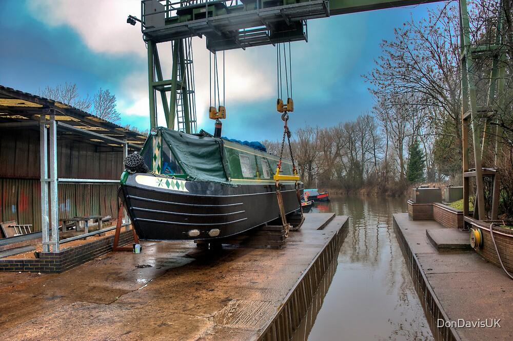 Debdale Canal Boat Maintenance Yard: Leicestershire, England, UK. by DonDavisUK