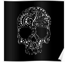 Tribal tattoo style gothic skull  Poster