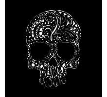 Tribal tattoo style gothic skull  Photographic Print