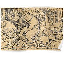 Theodor Kittelsen En de Uheldig Boernejakt a most unfortunate bear hunt Poster