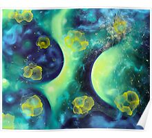 """Stellar Clouds"" - abstract expressionistic oil painting Poster"