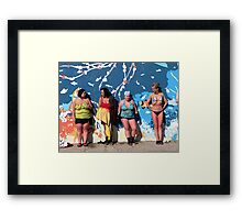 Après Polar Bear Swim Framed Print