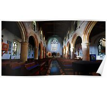 St Mary, Rye - Nave Looking West Poster