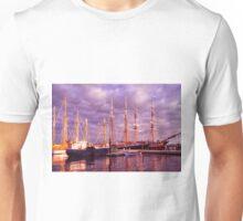 Tall Ship Sunset Unisex T-Shirt