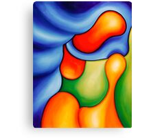 """""""Fun in the Pool"""" - colorful abstract expressionistic oil painting Canvas Print"""