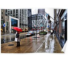 The Girl with the Red Umbrella Poster