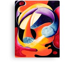 """""""The Big Bang"""" - colorful abstract expressionistic oil painting Canvas Print"""