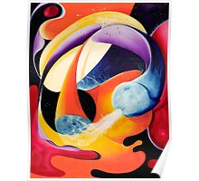 """The Big Bang"" - colorful abstract expressionistic oil painting Poster"
