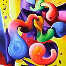 """""""Conceptions"""" - colorful abstract expressionistic oil painting by James  Knowles"""