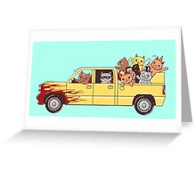 Cat wagon Greeting Card