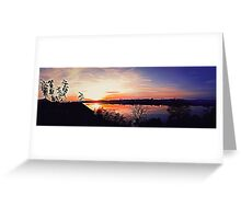sunset panorama Greeting Card