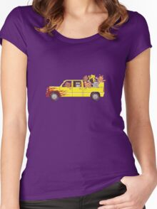 Cat wagon Women's Fitted Scoop T-Shirt