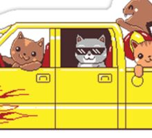 Cat wagon Sticker
