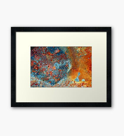 the origins of space and time... Framed Print