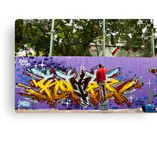 Spray Can Art Canvas Print