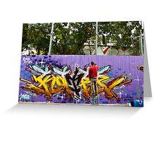 Spray Can Art Greeting Card